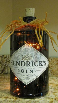 Lighted Bottle Hendrick's Gin by MikesLightedBottles on Etsy, $25.00