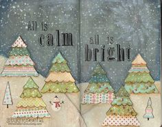 Holiday Art Journal Video: All is Calm