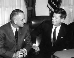President John F. Kennedy and Vice President Lyndon B. Johnson at Legislative Leaders Breakfast Meeting.