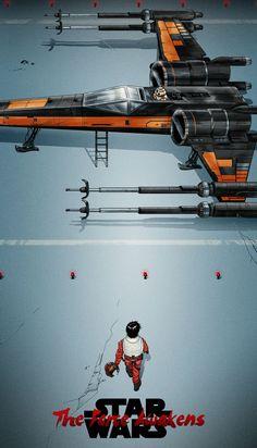 Star Wars: The Force Awakens - Akira-style poster - Katsuhiro Otomo