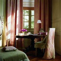 1000 id es sur le th me rideaux roses sur pinterest rideaux fauteuils ba - Toile de mayenne rideaux ...