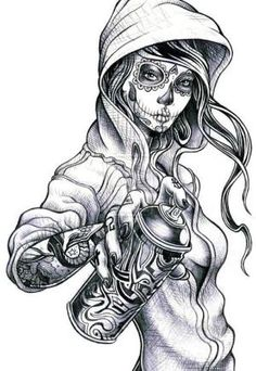 Graffiti Girl Characters | draw, girl, graffiti, hip-hop, ilustration - inspiring picture on ... by nina