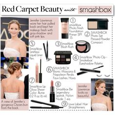 Red carpet beauty how-to.