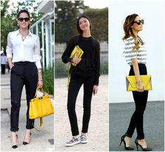 Modos de usar bolsa amarela.