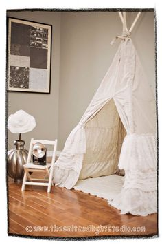 Custom lace ruffle teepee  made to order by TeepeeandTent on Etsy, $249.00
