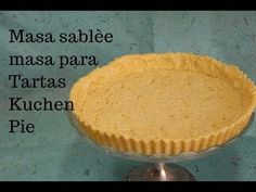 MASA BÁSICA PARA TARTAS .PIE O KUCHEN - YouTube Empanadas, Pie Dish, Recipies, Deserts, Muffin, Lemon, Food And Drink, Cookies, Baking