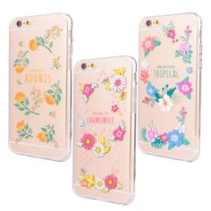 Elegant Marigolds Cherry Blossom Chamomile Flowers Cellphone Case for iPhone 6 6S 4.7'' Super Thin Transparent Soft TPU Shell