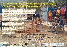 III Festival de Prehistoria y Arqueología de Mallorca – Portocolom – toda la familia.