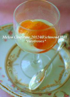 メロン&レモンのコンフィチュールをグリークヨーグルトにかけて