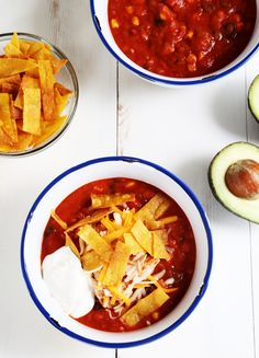 Get this easy-to-follow, tested recipe for gluten free taco soup—made with beef or chicken. Make this warm, comforting, easy dinner tonight!
