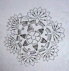 Háčkované vločky - patterns