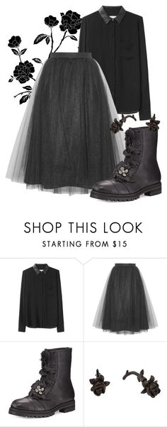 """#368"" by nihil ❤ liked on Polyvore featuring Band of Outsiders, Jimmy Choo and Lily Charmed"