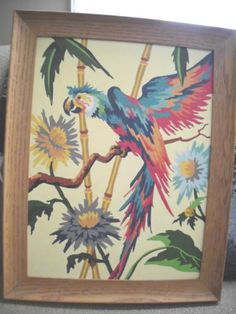 Vintage PAint by Number PArrot or cockatoo?