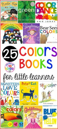 Colors Books for Little Learners – Pocket of Preschool Color and Colors Mixing book list just for little learners (preschool, pre-k, and kindergarten) Preschool Color Theme, Preschool Color Activities, Kindergarten Colors, Homeschool Kindergarten, Preschool Lessons, Preschool Classroom, Preschool Library, Montessori Preschool, Classroom Themes