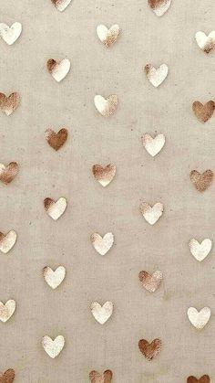 Gold Wallpaper Background, Rose Gold Wallpaper, Cute Wallpaper For Phone, Glitter Wallpaper, Heart Wallpaper, Love Wallpaper, Screen Wallpaper, Aesthetic Iphone Wallpaper, Mobile Wallpaper