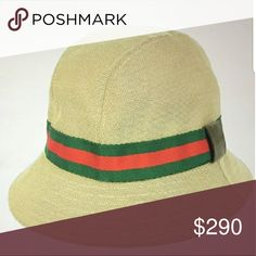 5a494a401fc27 Gucci bucket hat with green and red strip Gucci bucket hat with the  original green and