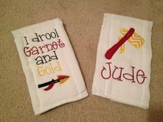 Personal Creations #Gifts  #Personalizedgifts 2 Personalized FSU Burp Cloths on Etsy, $23.00 - Great Personalized Gifts via- http://www.AmericasMall.com/personalcreations-gifts