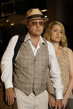 Raymond Reddington wearing  Stetson The Broadway by Biltmore, Oliver Peoples Victory  Sunglasses