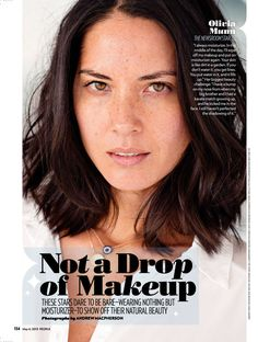 Olivia Munn. Naturally beautiful. Love her freckles.