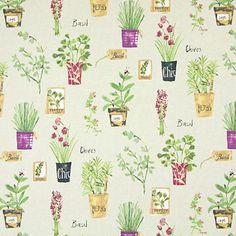 Herb Pots 1 - Bavlna - zelená