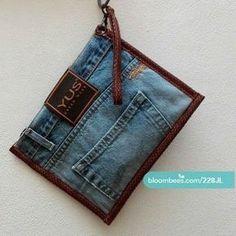 Sacs Tote Bags, Diy Bags Patterns, Diy Wallet, Diy Denim Wallet, Denim Handbags, Denim Ideas, Denim Purse, Denim Crafts, Clutch