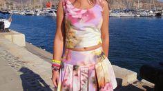 el armario de las telas: Crop top + falda, 100% DIY