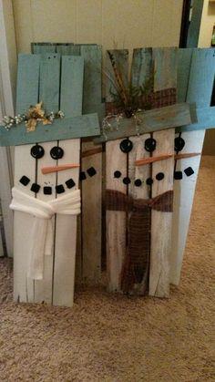 Decoraciones de Navidad con trozos de madera - Dale Detalles