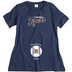 Detroit Tigers Future Fan Maternity T-shirt by Soft As A Grape - MLB.com Shop