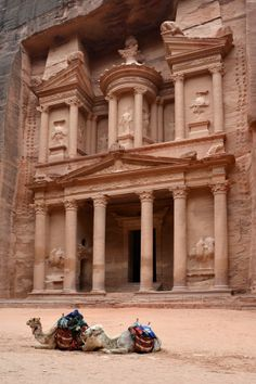 Al Khazneh or The Treasury at Petra, Jordan.  A UNESCO World Heritage Site