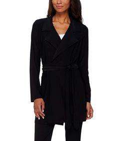 Another great find on #zulily! Black Tie-Waist Cardigan - Plus Too #zulilyfinds