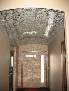 Glass mirror mosaic ceiling