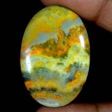 55.75Cts. 100% NATURAL DESIGNER BUMBLE BEE JASPER OVAL CABOCHON LOOSE GEMSTONES