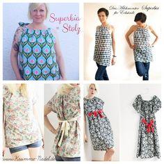 Nähanleitungen Mode - ebook Superbia - Bluse/ Tunika/ Kleid - XS - XXXL - ein Designerstück von -erbsuende bei DaWanda