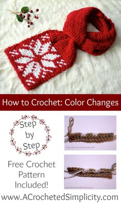 How to Color Change in Crochet for tapestry crochet colorwork - a tutorial by A Crocheted Simplicity