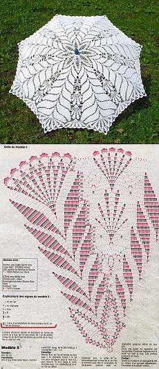 Зонтик крючком схема вязания