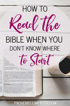 Do you want to read the Bible but aren't sure where to start? Discover how to start reading Scripture, even as a beginner, and establish a healthy quiet time routine. Family Bible Study, Bible Study Plans, Bible Study Notebook, Bible Study Guide, Beginner Bible Study, Best Bible Reading Plans, Bible Journal, Scripture Reading, Scripture Study