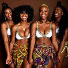 Look at these melanin goddesses 🙏🏾💫✨ Beautiful African Women, African Beauty, African Fashion, Black Girls Rock, Black Girl Magic, Brown Skin Girls, Black Women Art, My Black Is Beautiful, Ebony Beauty