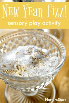 New Year's Eve fizzy sensory play activity - NurtureStore New Year's Eve Activities, Autism Activities, Christmas Activities For Kids, Cool Science Experiments, Science For Kids, Happy Mom, Happy Kids, New Year's Eve Crafts, Play Activity