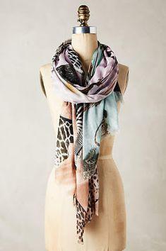 Anthropologie oversized boho neck scarf