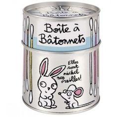 Blik voor wattenstaafjes Derriere la Porte | Woonaccessoires Webshop: Presents @ Home