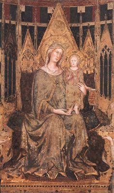 Maestà (detail)  1315  Fresco  Palazzo Pubblico, Siena.SIMONE MARTINI  Italian painter, Sienese school (b. 1280/85, Siena, d. 1344, Avignon)