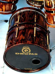 Beautiful deep kick drum by Q Drums.
