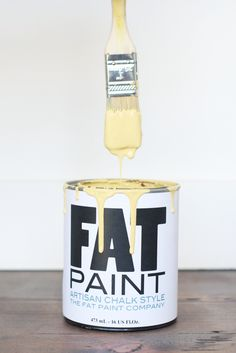 """This breaks the """"don't paint out of your can"""" rule, but it makes for one FAT-tastic photo ;)"""