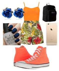 """Spring!!! #26"" by sydnaiqueenz on Polyvore featuring WearAll, Miguelina, Converse, JanSport and OPI"