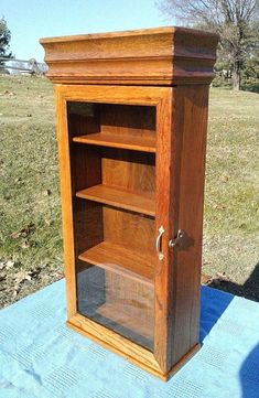 Antique 20 drawers oak map and blueprint cabinet divided flat file antique oak small wall cabinet one glass door with 4 shelves 1920s era malvernweather Gallery