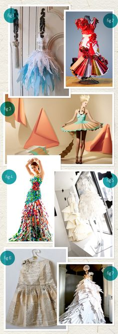 Dresses made of paper from www.discoverpaper.com