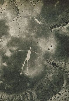 Not too far from the Colorado River, on the low desert just west of Highway 95, lies one of the most spectacular ancient creations in California––a group of immense drawings that, like Peru's famous Nazca lines, can only be seen properly from the air. They are called the Blythe Intaglios.