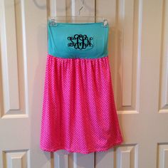 Monogrammed Swimsuit Coverup Aqua Top with by TheSouthernPeach, $36.00