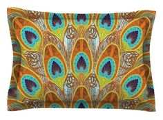 Peacock by Art Love Passion Cotton Pillow Sham