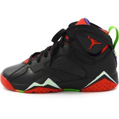 Air Jordan 7 Retro (BG) 'Marvin The Martian' ($145) ❤ liked on Polyvore featuring accessories and shoes